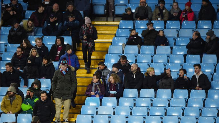 The Villa Park crowd have seen only two home wins in the league this season