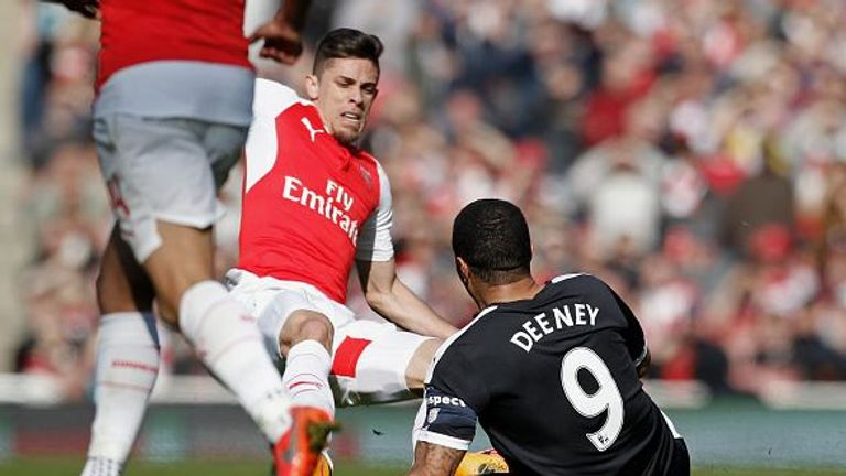 Watford felt Gabriel should have been sent off for a two-footed tackle