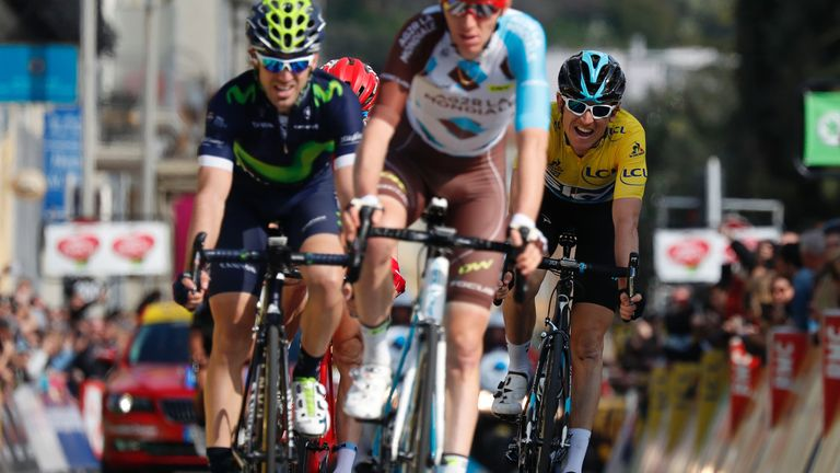 Thomas (right) finished five seconds down on Contador in 11th place