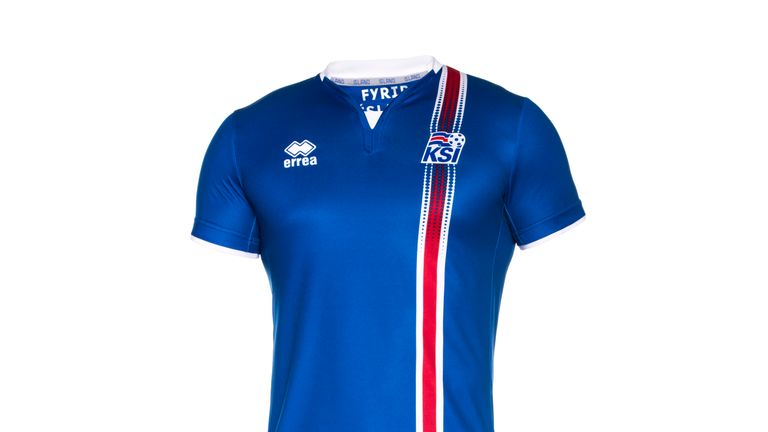 Iceland home kit for Euro 2016