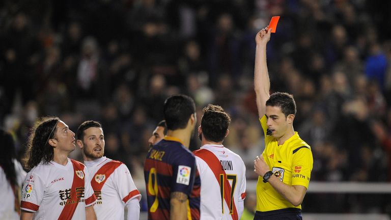 Rayo were reduced to nine men after Diego Llorente and Manuel Iturra saw red