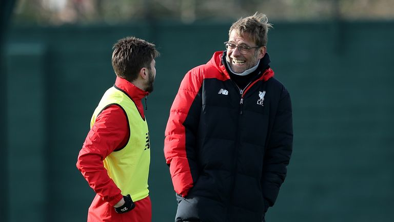 Jurgen Klopp (right) will hold a pre-match news conference at Old Trafford