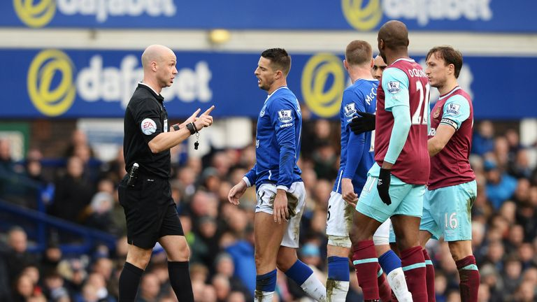 Kevin Mirallas was sent off after 35 minutes of Everton's loss to West Ham last weekend after receiving a second booking