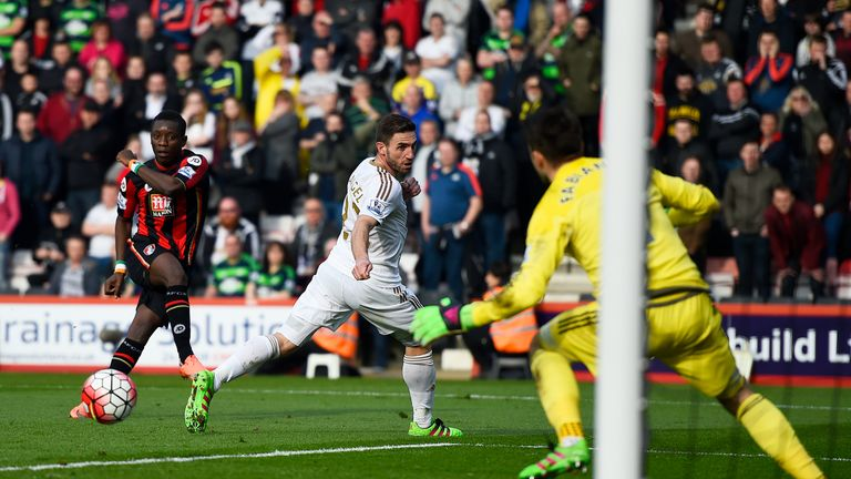 Max Gradel fired Bournemouth in front against Swansea