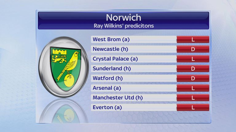 Ray Wilkins cannot see another Norwich win before the end of the season