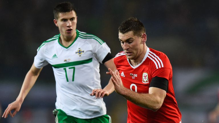 Paddy McNair in action for Northern Ireland against Wales