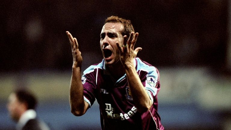 Di Canio joined West Ham from Sheffield Wednesday in January 1999