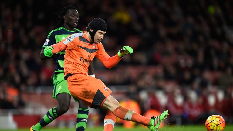 Cech suffered the injury during the match against Swansea