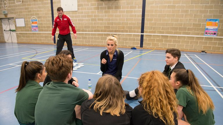 Siobhan was an inspiration through the Sky Academy at her local college in Bath