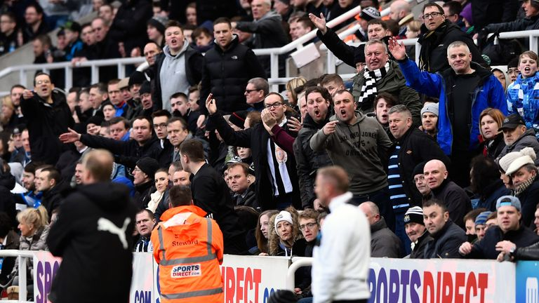 Newcastle fans vent their anger at Steve McClaren during the home defeat to Bournemouth on Saturday