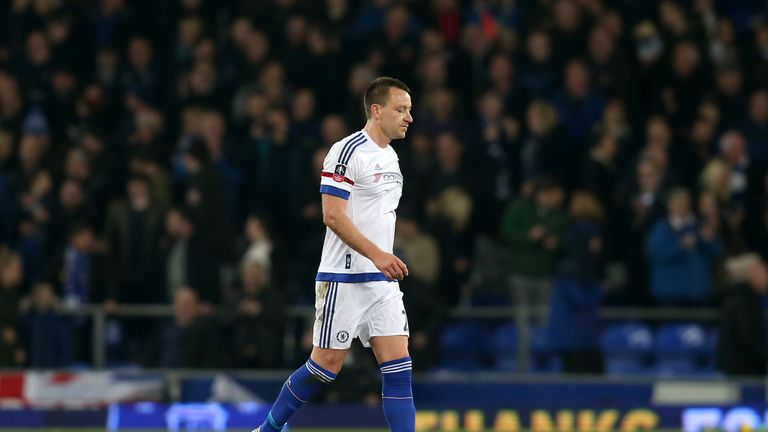 John Terry made his 700th appearance for Chelsea in the 2-0 defeat at Everton
