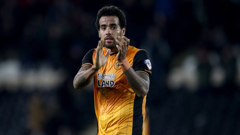 Hull City's Tom Huddlestone applauds fans at full-time