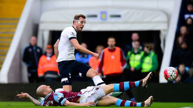 Harry Kane scored twice as Tottenham beat Aston Villa 2-0