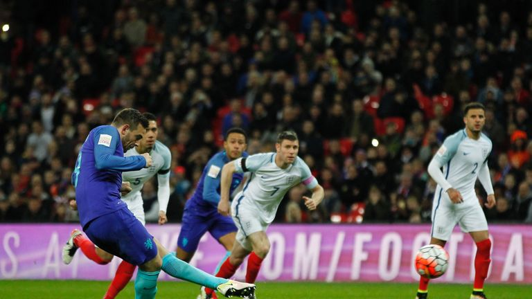 Janssen scored an equalising penalty against England recently