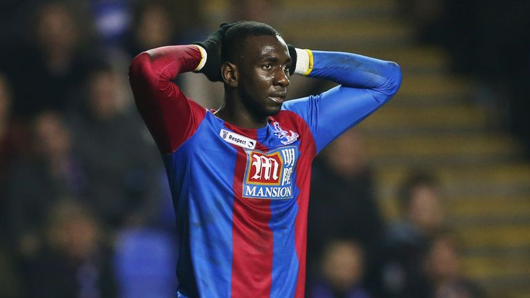 Palace's Yannick Bolasie missed three decent chances during the first half