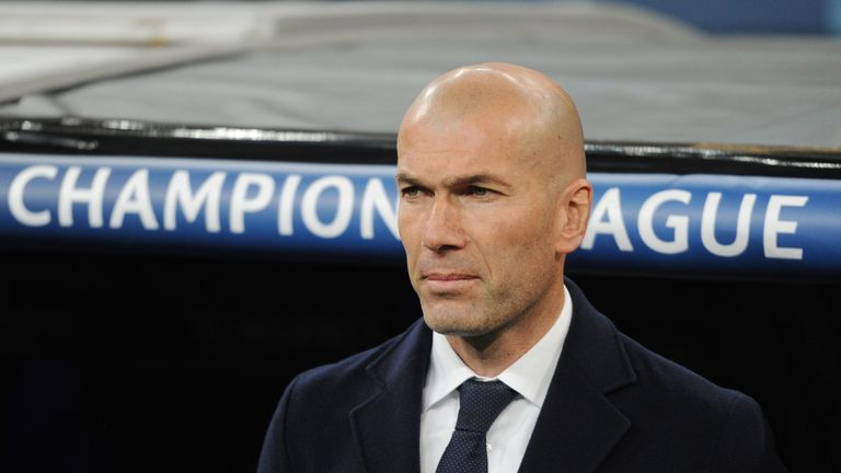 Zinedine Zidane made five changes from the victory over Celta Vigo