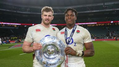 England's George Kruis (L) and Maro Itoje are up for European Player of the Year