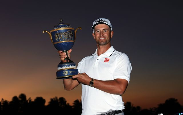 Adam Scott with WGC-Cadillac trophy