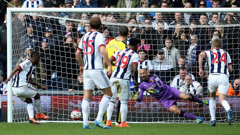 Saido Berahino missed two penalties during West Brom's defeat to Watford