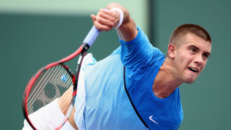 Coric was knocked out of the Rotterdam Open by Marin Cilic