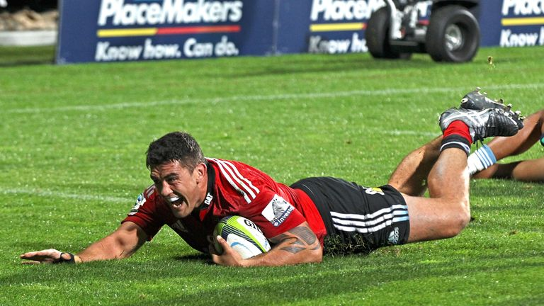 Crusaders hooker Codie Taylor scored two tries in a comfortable win over the Brumbies