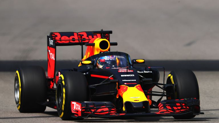 The canopy was fitted for just one lap before Ricciardo came back into the pits and it was quickly removed to get the Australian back out on track for ... & WATCH: Red Bull test new canopy during Practice One at Russian GP ...