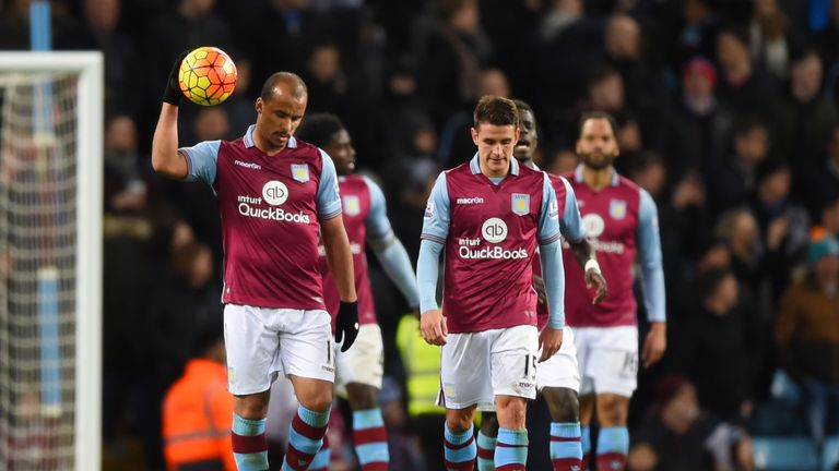Aston Villa finished bottom of the Premier League last season
