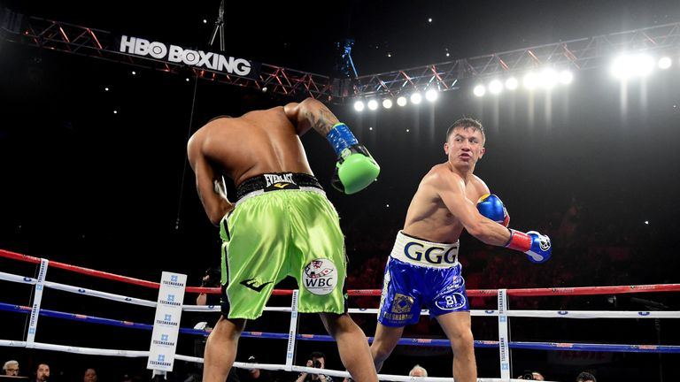 35 opponents have failed to deal with Gennady Golovkin (right)