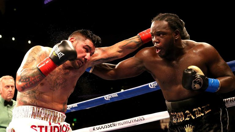 Arreola (L) was stopped by Bermane Stiverne when they fought for vacant WBC belt in 2014