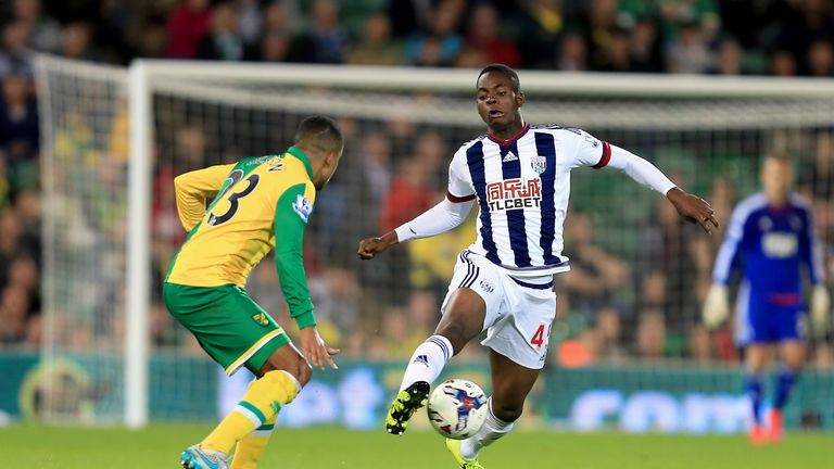 Leko (right) made his senior debut in the Capital One Cup against Norwich