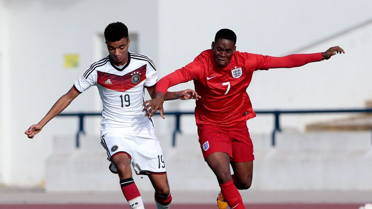 Leko (right) has played for England at U16 and U17 level