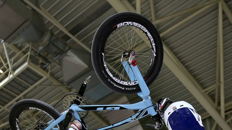 Somerset rider Phillips was one of the favourites for BMX gold