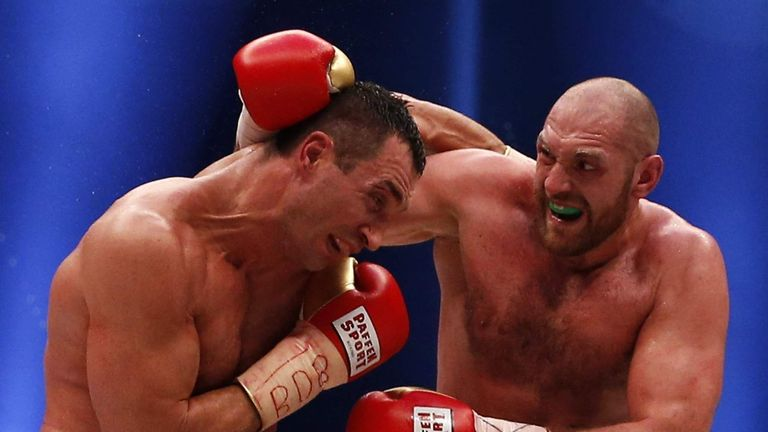 Tyson Fury claimed a unanimous decision win over Klitschko in November 2015