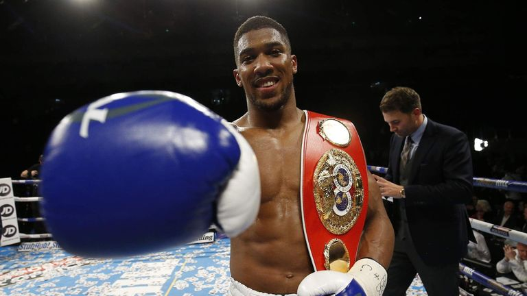 IBF champion Anthony Joshua says he wants 'all the belts'