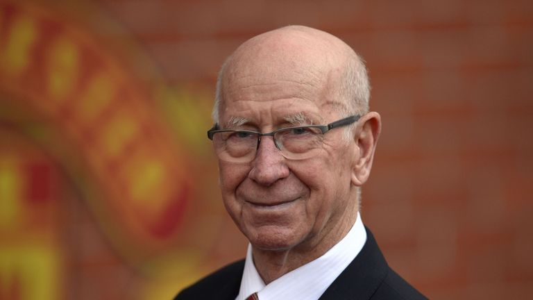 Sir Bobby Charlton was a team-mate of Armfield's with England