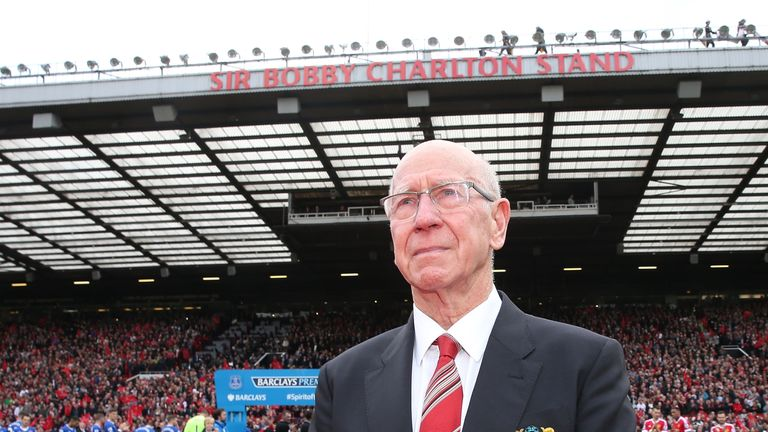 Manchester United have re-named the South Stand at Old Trafford after Sir Bobby Charlton