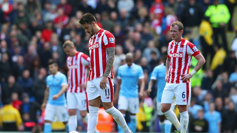 Stoke have slipped down the table after a poor run of form