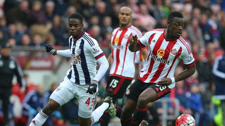 Jonathan Leko (left) made his Premier League debut against Sunderland on April 2