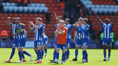Wigan Athletic will hope to seal the title on Sunday