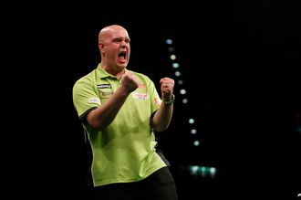 Michael van Gerwen ended with an average of over 105 after perfect win