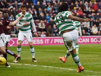Colin Kazim-Richards opens the scoring for Celtic