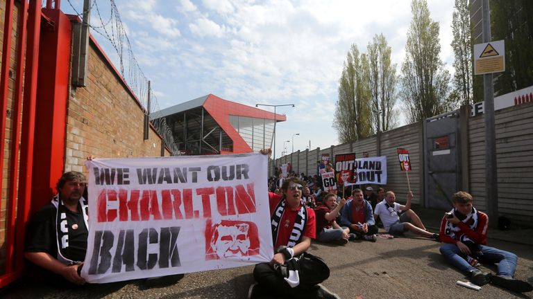 Charlton Athletic supporters have held several protests against the ownership of Duchatelet