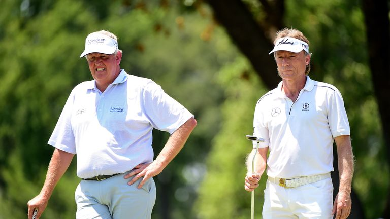Montgomerie (left) is a three-time senior major champion