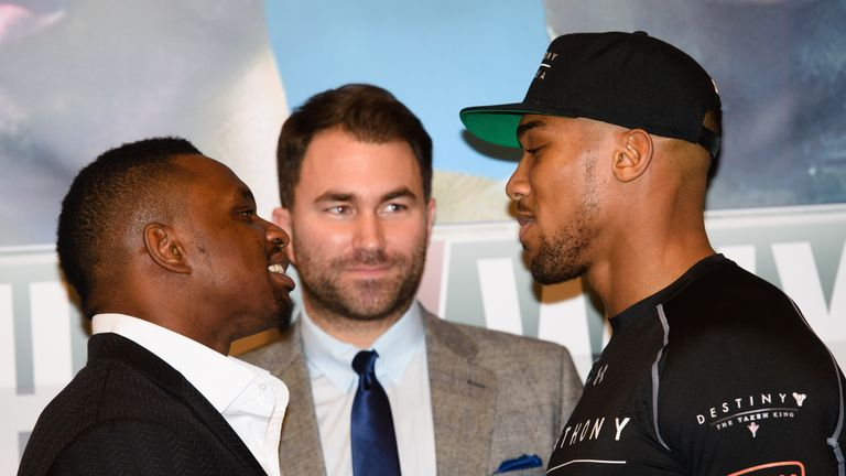 Whyte and Joshua had a fierce rivalry