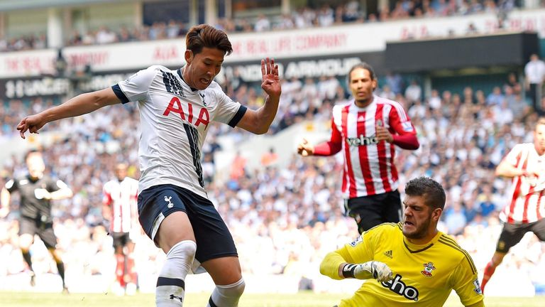 Tottenham went ahead against Southampton but lost the match 2-1