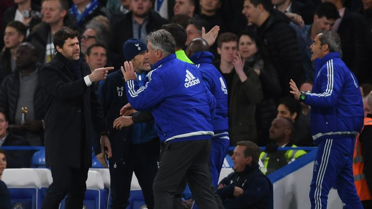 A night of high emotions for managers Mauricio Pochettino and Guus Hiddink