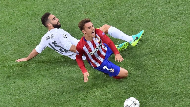 Image result for carvajal Atletico Madrid Champions League