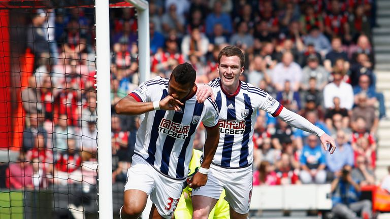 Salomon Rondon opened the scoring for West Brom but his side were pegged back by Bournemouth