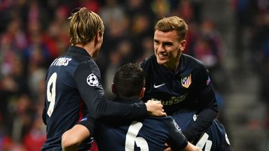 Atletico Madrid's Antoine Griezmann celebrates his side's leveller on the night