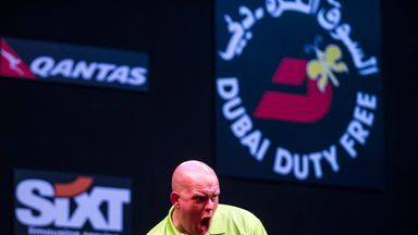 Michael van Gerwen was victorious in Dubai and made a good start in Shanghai